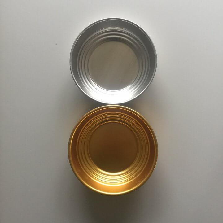 Skåle Kurve-aluminium-soelv-guldfarvet